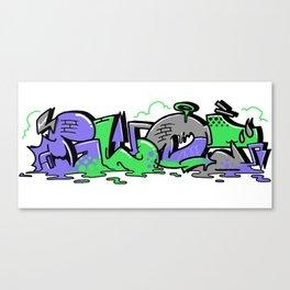 Oldschool Ow Cool Graffiti Canvas Print
