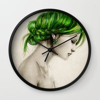 clover Wall Clocks featuring Clover by Isaiah K. Stephens