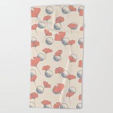 Delicate Ginkgo&Dots #society6 #decor #buyart Beach Towel