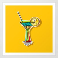cocktail Art Prints featuring Cocktail by Rceeh