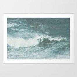 Faded sea Art Print