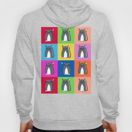 Odd Kitty Out - Tabby Cat Pattern Hoody