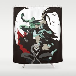 evil monsters group poster Shower Curtain