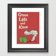 Green Eggs and Kane Framed Art Print