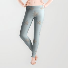 Starfish Pattern - Palldian Blue - Casart Sea Life Treasures Collection Leggings