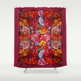 """Rose Huipil Embroidered"" Shower Curtain"