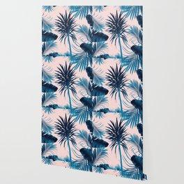 Tropical Cali Summer Vibes Leaves Mix #1 #tropical #decor #art #society6 Wallpaper