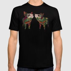 pig love amber Mens Fitted Tee Black LARGE