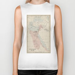 Vintage Map of The Egyptian Empire (1913) Biker Tank