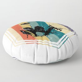 Retro Drums Floor Pillow