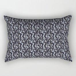 Penguins - black Rectangular Pillow