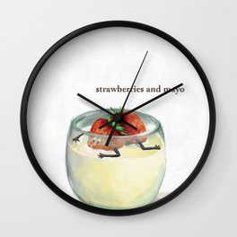 La Cuisine Fusion - Strawberries with Mayo Wall Clock