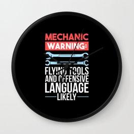 Mechanic  - Warning Wall Clock