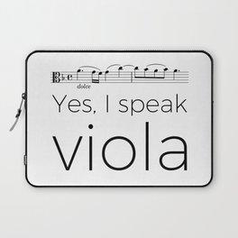 I speak viola Laptop Sleeve