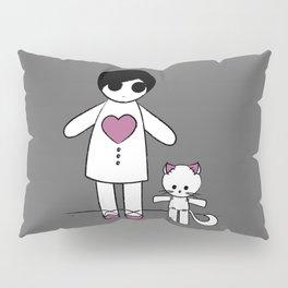 Doll & Cat Pillow Sham
