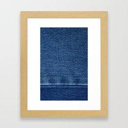 Blue Jean Texture V4 Framed Art Print