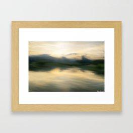 Lakeside Sunrise Framed Art Print