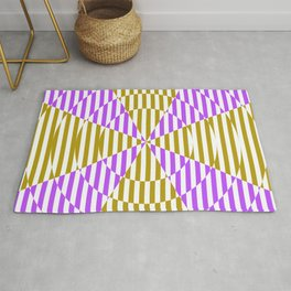 Crossing the lines - the magenta and yellow optical illusion Rug
