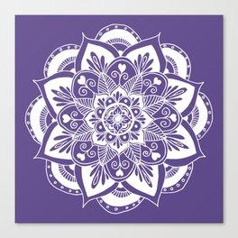 Ultraviolet Flower Mandala Canvas Print