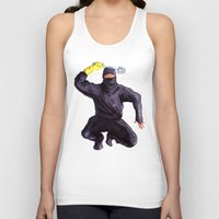 bathroom Tank Tops featuring Bathroom Ninja by Del Gaizo