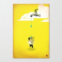 "Glue Network Print Series ""Water / Hygiene / Sanitation"" Canvas Print"