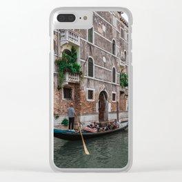 Gondola rides in Venice Clear iPhone Case