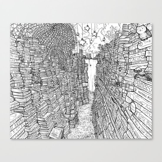 the Library Canvas Print