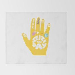 Seize the day – Sunshine hand Throw Blanket