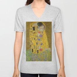 "Gustav Klimt ""The Kiss"" Unisex V-Neck"