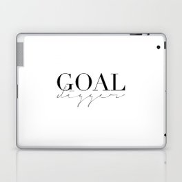 GOAL DIGGER SIGN,Gift For Boss,Like A Boss,Success Quote,Business Women Gift,Printable Art,Modern Ar Laptop & iPad Skin