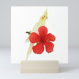 Lutino Cockatiel Mini Art Print