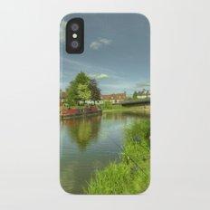 Hungerford Wharf Fishing iPhone X Slim Case