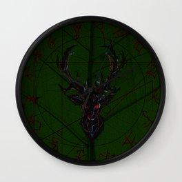 Oh dear leaf bckgrnd Wall Clock