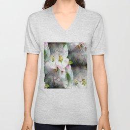 Apple Blossom Time Unisex V-Neck