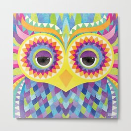 Rave the Owl Metal Print
