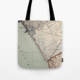 Vintage Map of Venice Beach California (1923) Tote Bag