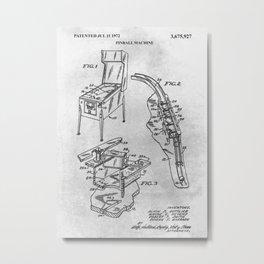 Pinball Machine Metal Print