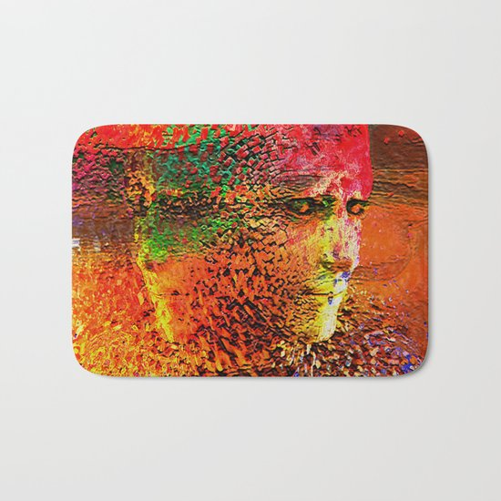 """"""" The beauty is the magnificence of the divine face. """" Bath Mat"""