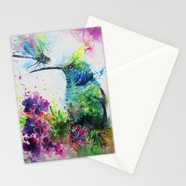 Hummingbird And Dragonfly Stationery Cards