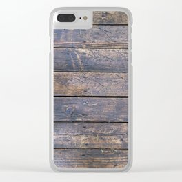 Woody Clear iPhone Case