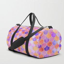 Sunset Mermaid Scales Pattern Duffle Bag