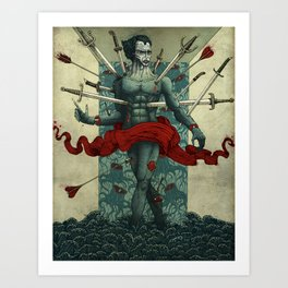 Wounded (Version 1) Art Print