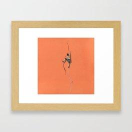 Climbing: Solitude Framed Art Print