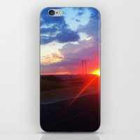 south africa iPhone & iPod Skins featuring Sunset in South Africa by Rebekah Cano