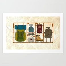 Camping Kit Art Print