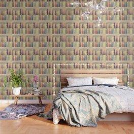 Dream with Books - Love of Reading Bookshelf Collage Wallpaper