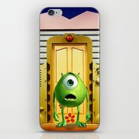monster inc iPhone & iPod Skins featuring  Monster Inc Mike Wazowski by Thorin