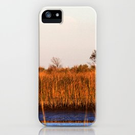 Watercolor Landscape, Janes Island 04, Maryland iPhone Case