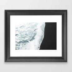 Black Sand Framed Art Print