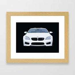 BMW M6 Ilustration Framed Art Print